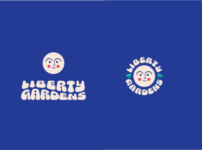 Liberty Gardens Logo vintage ui illustration logo design branding and identity branding brand design