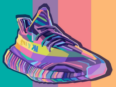 Adidas Yeezy digitalart portrait poster sport vectorart vector adobe graphicdesign vintage wpap fulcolor colorful popart design sneaker hypebeast yeezy adidas illustration