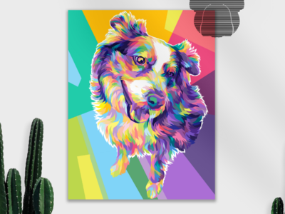 Hi !🦴 animal cute adobe graphicdesign popartstyle digitalpaint digitialart illustration vectorart vector design popart wpap petillustration pet fulcolor colorful commissions puppy dog