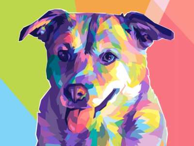 👅 cute puppy dog commissions graphicdesign graphic fullcolor colorful design wpap vectorart vector illustrationart illustration animal pets pet