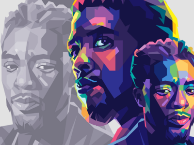 Chadwick boseman wakanda marvel blackpanther graphicdesign fullcolor colorful adobe vector vectorart portrait popart illustration design wpap chadwick boseman boseman chadwick