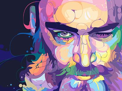 😉 vector art digital art vector illustrator illustration liquid unique men graphicdesign design fullcolor colorful portrait popart