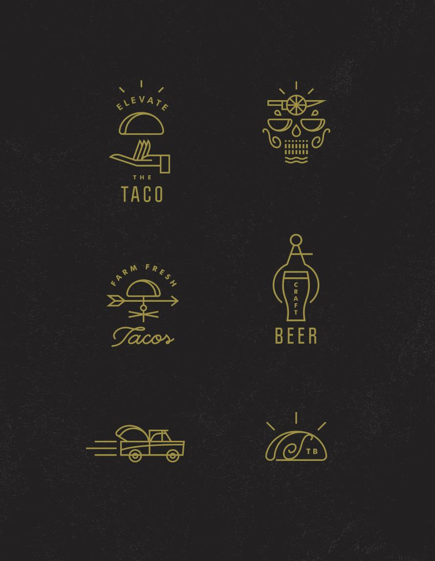 Scratch taco boutique icons