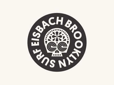 Surf Eisbach Brooklyn skull york new surfing surf ocean wave