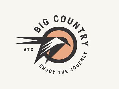 Big Country logo food travel austin texas sun flight fly swallow bird
