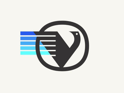 Vird charging cars electric logo animal emblem badge bird