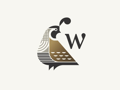Wail beak feather animal logo bird quail