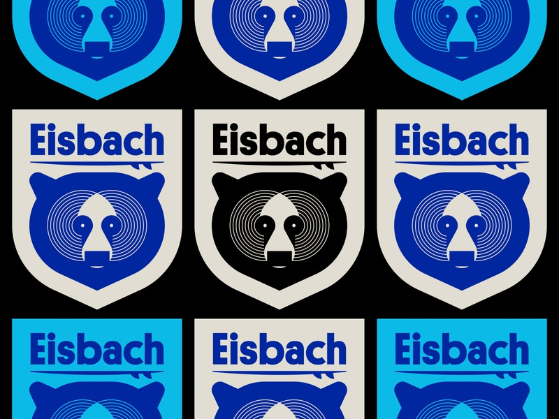 Eisbach shield badge board surfing surf wave brooklyn york new bear