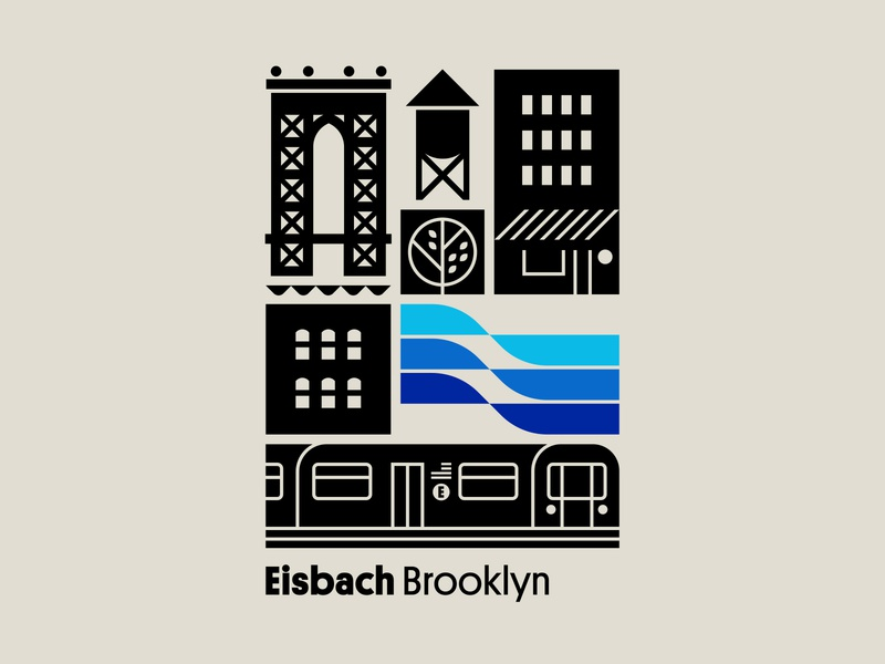 Eisbach pt. II wave flag surfing surf bridge tree water subway york new brooklyn