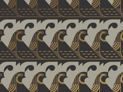 Quail wing beak feather gold pattern bird