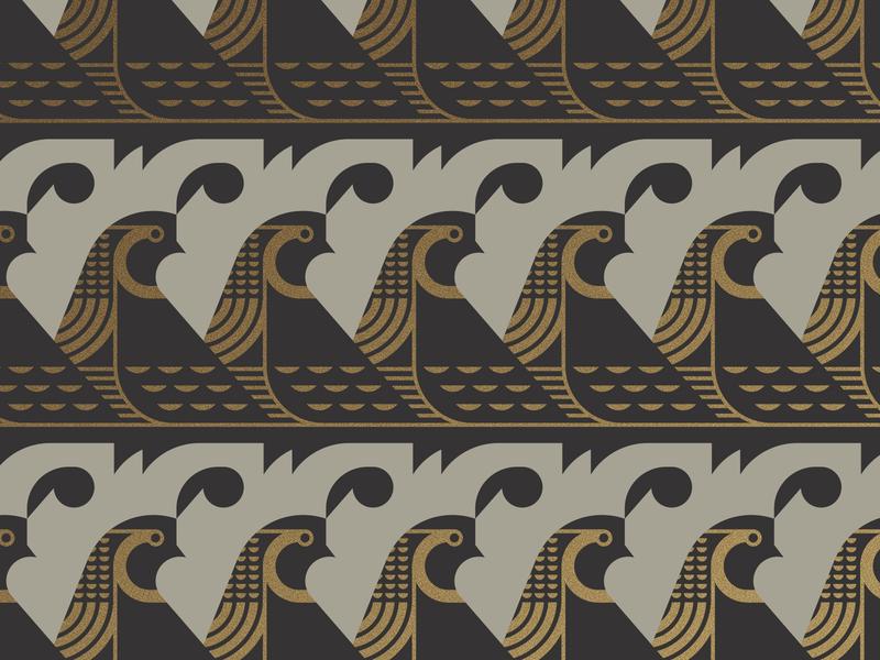 Quail wing beak feather gold pattern bird
