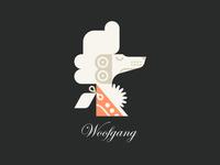 Woofgang food cream ice restaurant music wig classical mozart dog