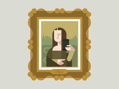 Mona Lisa Selfie painting art