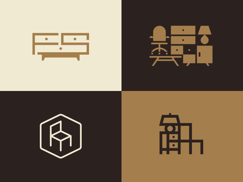 furniture logo. Brilliant Furniture Furniture Services Inc J Fletcher Dribbble And Logo