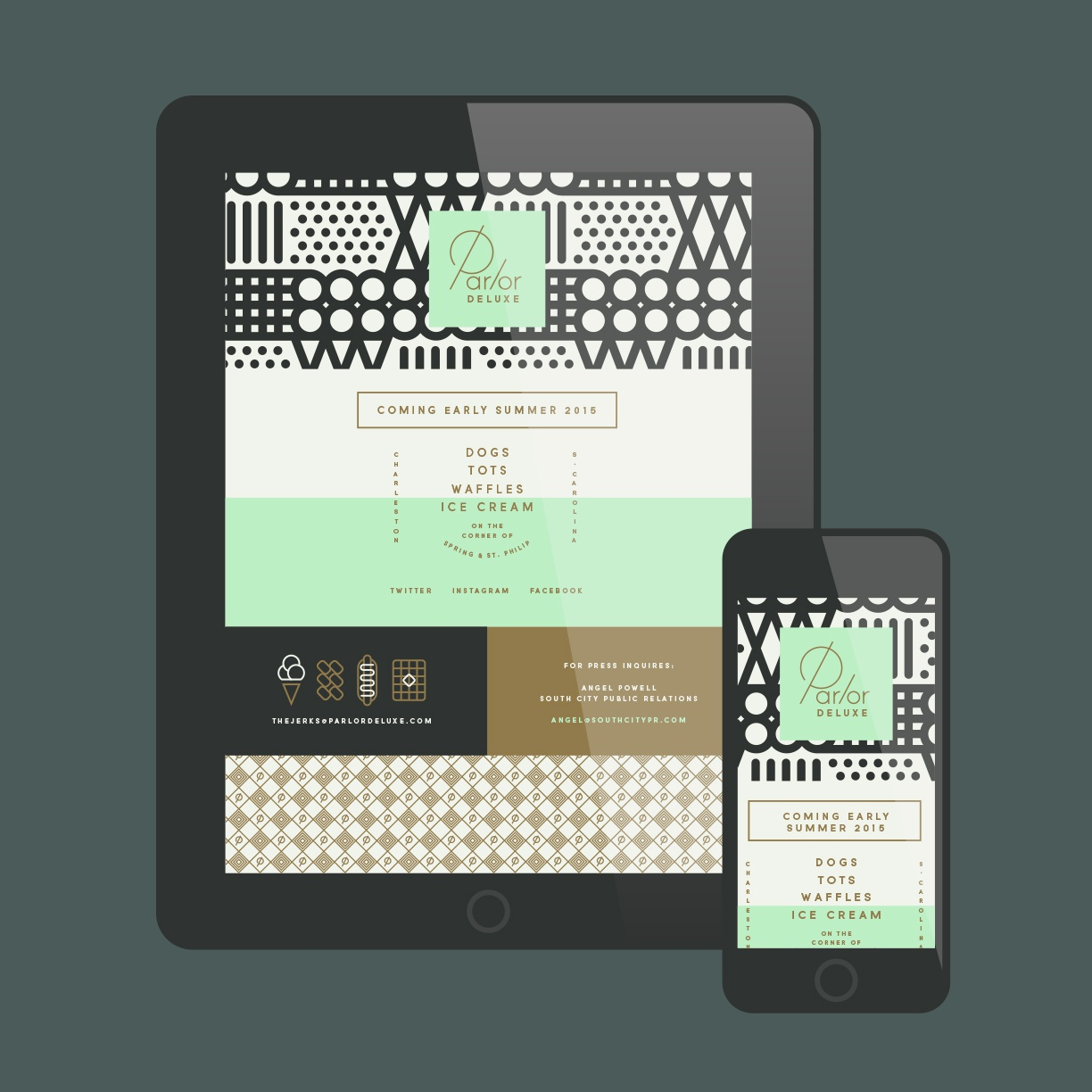 Parlor deluxe dribbble web shot detail j fletcher