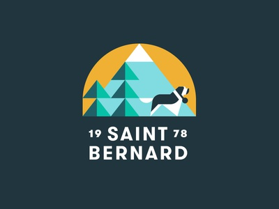 Saint Bernard pt. V pine trees snow mountain dog bernard st saint