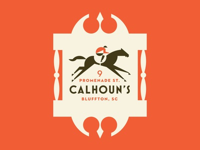 Calhoun's bar tavern jockey race horse