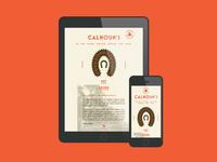 Calhoun's pt. III site iphone ipad web wreath horse