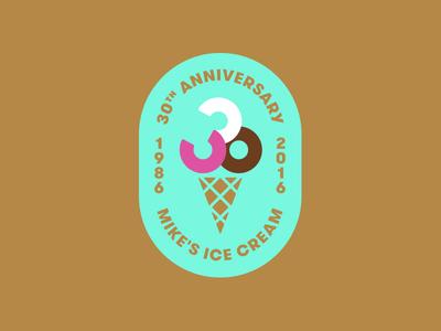 Mike's Ice Cream oregon anniversary cone cream ice