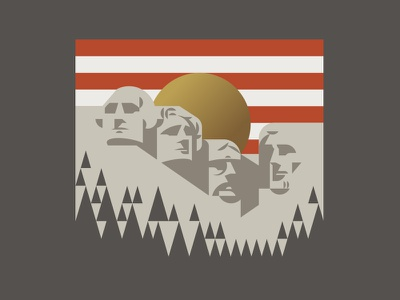 Mt. Rushmore jefferson roosevelt lincoln washington sun flag america mountain rushmore mount
