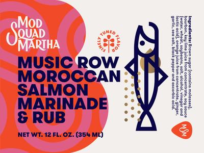 Mod Squad Martha pt. II bottle food morocco label marinade fish pick guitar salmon