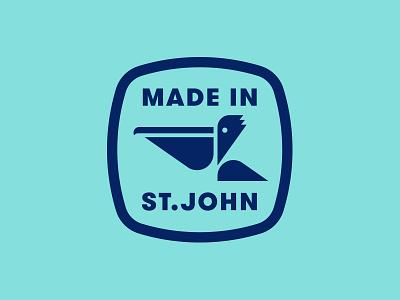 The Longboard pt. IX badge patch usvi saint john pelican