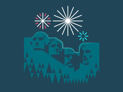 The Fourth night rushmore american america usa fireworks