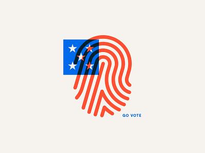 Go Vote stars print thumb flag usa america