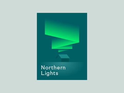 Northern Lights north night cabin