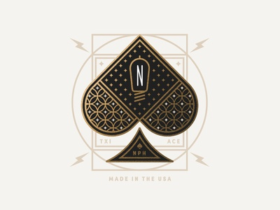 NPH pt. II deco lightning cards spades ace bulb light