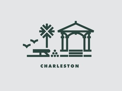 The Charleston 25 v.2 plantation bridge historic church gazebo tree palm cannon
