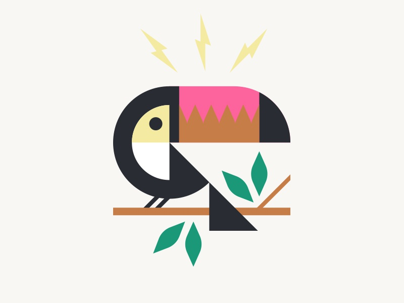 Howler Brothers pt. II bird jungle tropical leaves bolt lightning toucan