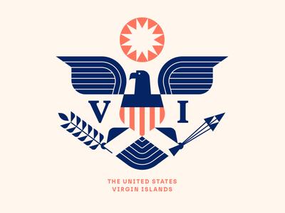 The Longboard pt. XI usa arrow virgin island usvi crest flag sun eagle