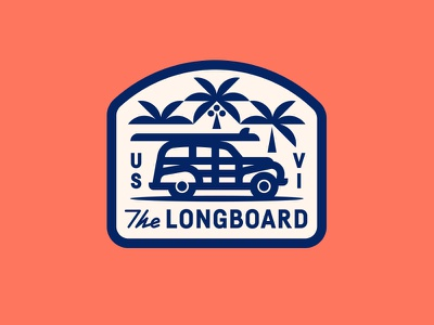 The Longboard pt. XIV coconut surfboard tropical wagon car waves surf trees palm