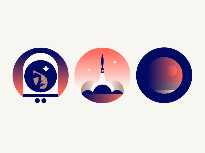 Inch x Inch moon galaxy planet mars rocket astronaut space