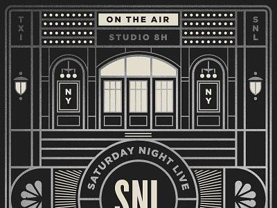 Saturday Night Live pt. II sign tv light window door comedy snl television