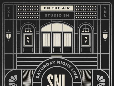 Saturday Night Live pt. II sign tv light window door comedy snl television