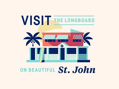 The Longboard pt. XVI sun palm surfboard surf island seafood ocean restaurant