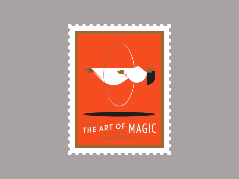 USPS pt. II trick art magician magic shadow ring floating woman
