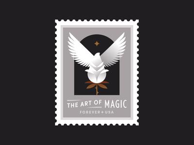 USPS pt. III dove star trick magician magic flower rose bird