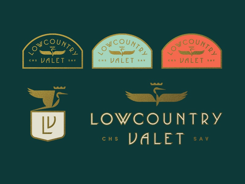 Lowcountry Valet pt. II charleston shield crest badge car crown bird heron