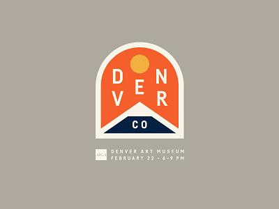 Denver crest badge mountain sun colorado