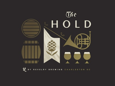 The Hold glass flag horn brewery barrel hops beer charleston