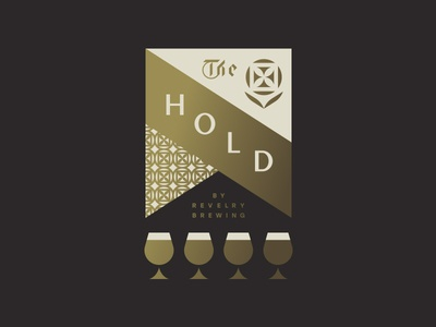 The Hold pt. II glass castle french horn pattern flower flag beer brewery