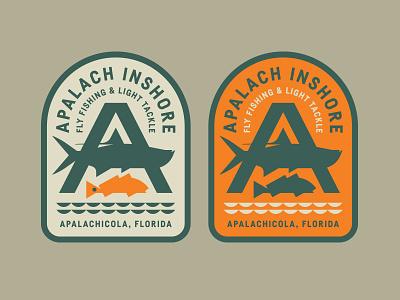 Apalach Inshore fly patch badge florida waves water redfish tarpon fishing fish