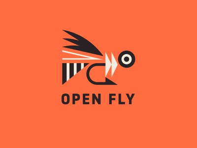 Open Fly feather water fishing fish hook eye fly