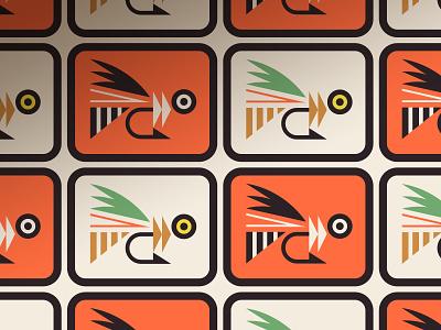 Open Fly pt. II sea ocean water tail badge patch eye fish fishing hook