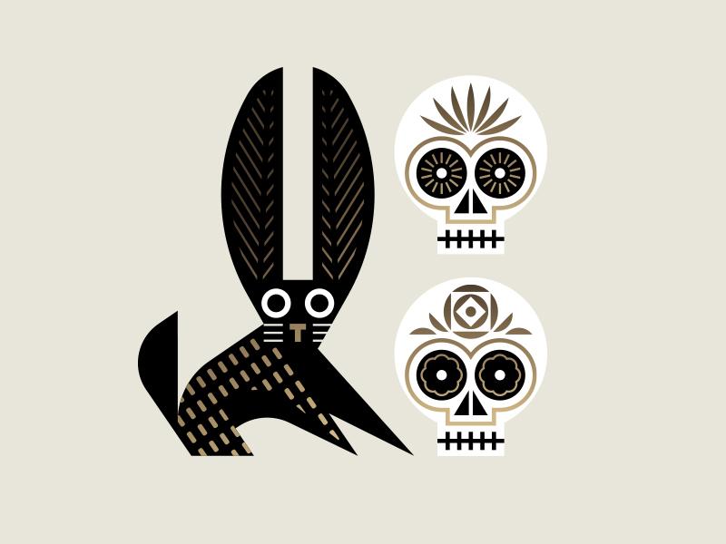 El T mexican mexico skull rabbit