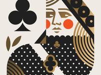 USPS pt. VIII head heart club spade deck cards crown king queen face