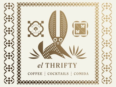 El Thrifty carolina leaves palm cocktail coffee food restaurant mexican mexico butterfly rabbit